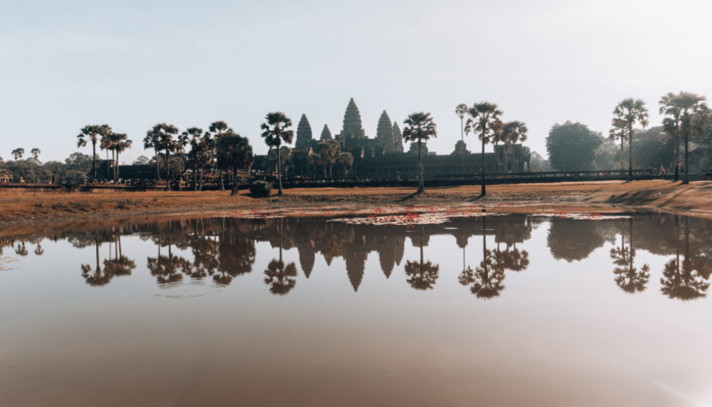 odraz Angkor Wat Kambodža